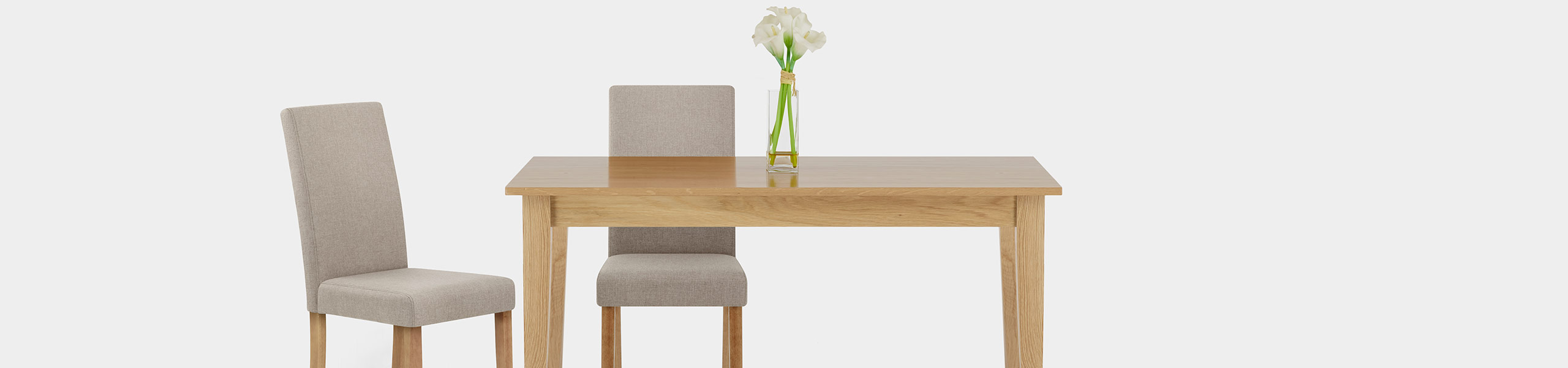 Columbus Oak Dining Chair Tweed Video Banner