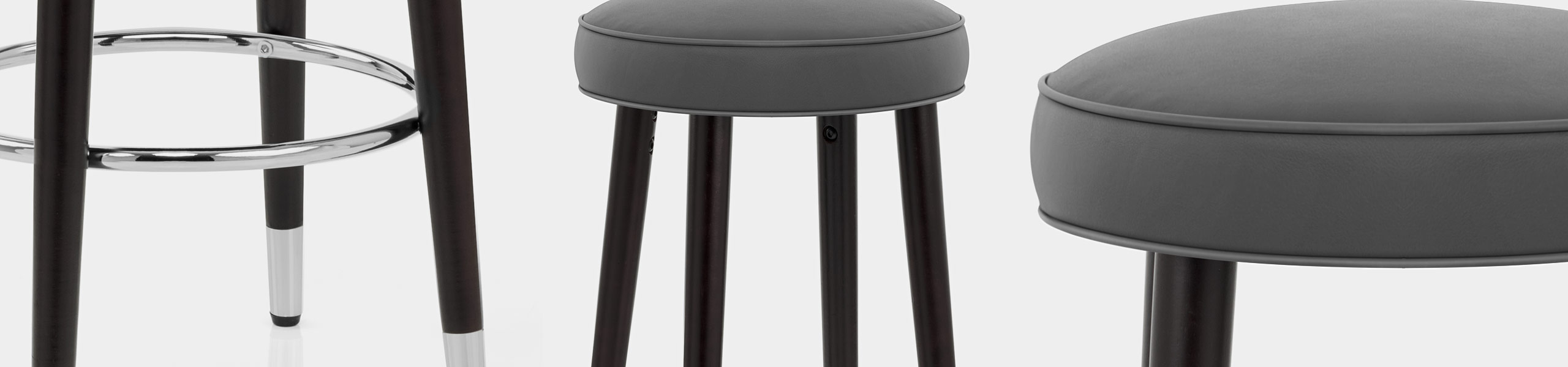 Conrad Bar Stool Grey Leather Video Banner