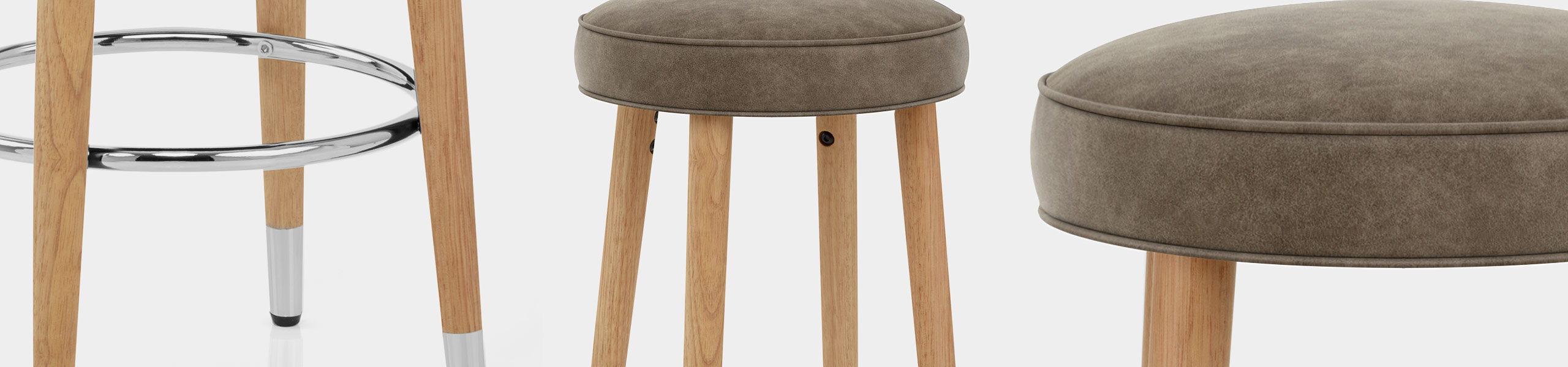 Conrad Oak Stool Antique Brown Video Banner
