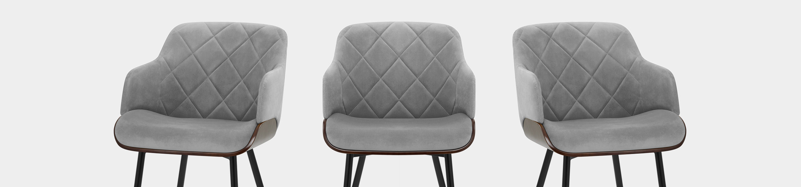 Dakota Dining Chair Grey Velvet Video Banner