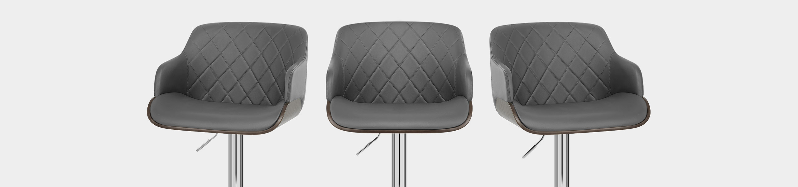 Dakota Bar Stool Grey Leather Video Banner