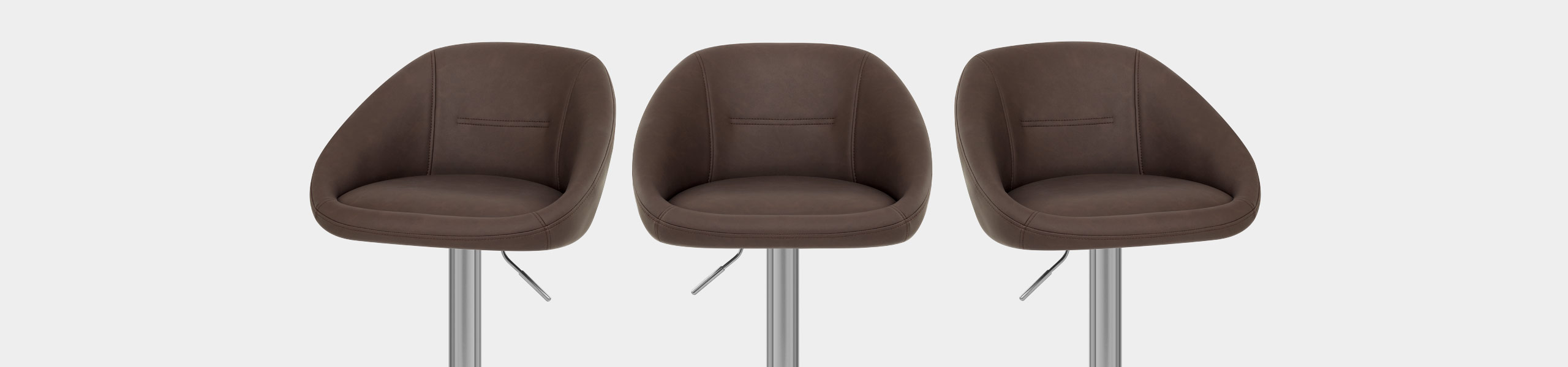 Decco Brushed Bar Stool Brown Video Banner