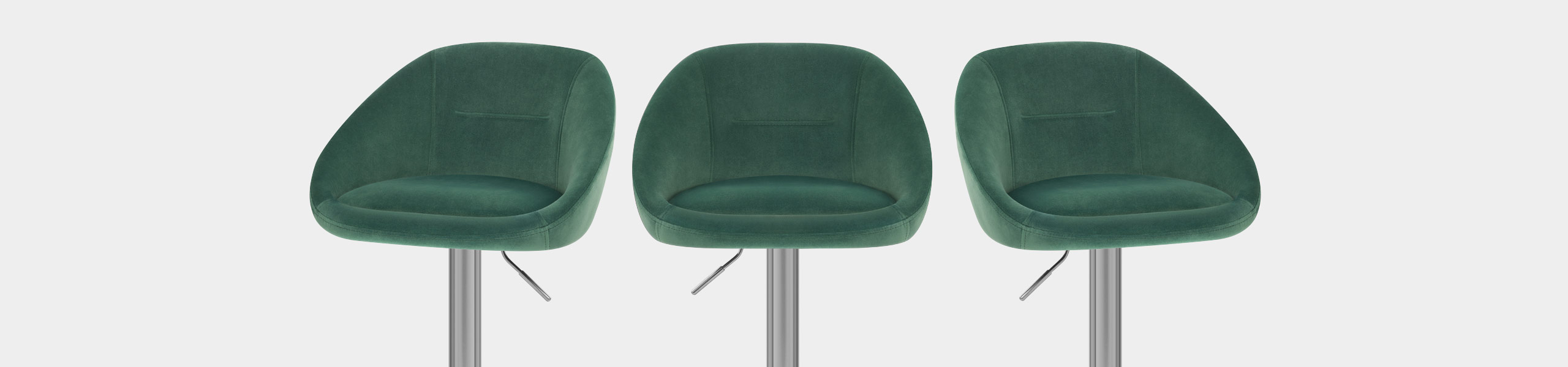Decco Brushed Stool Green Velvet Video Banner