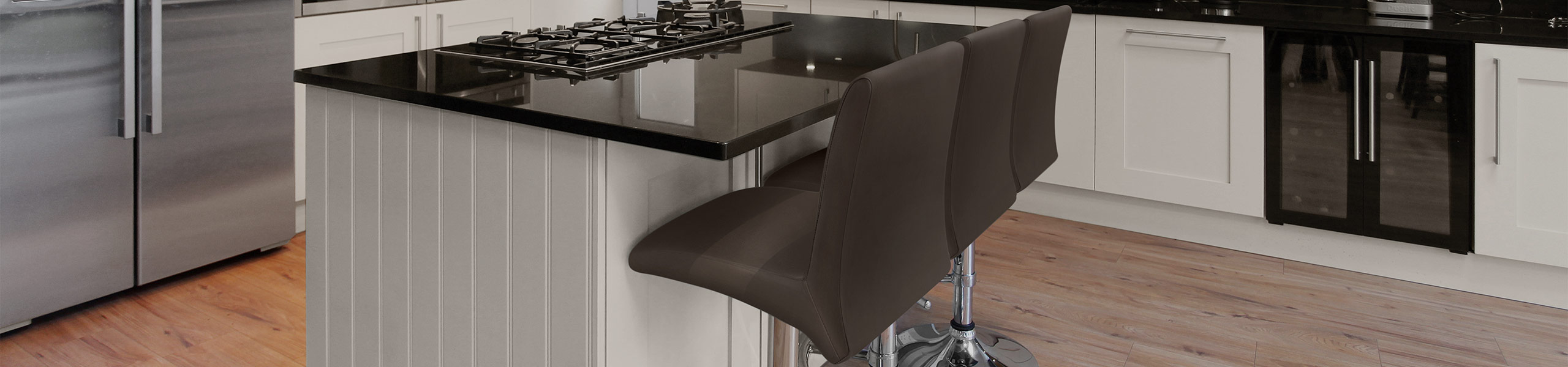 Deluxe High Back Stool Brown Video Banner