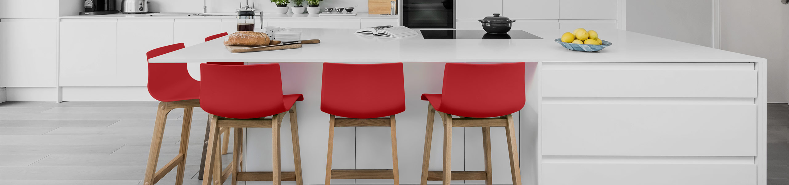 Drift Oak & Red Bar Stool Video Banner