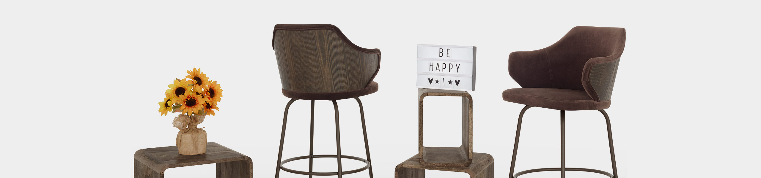 Duke Bar Stool Brown Velvet Video Banner