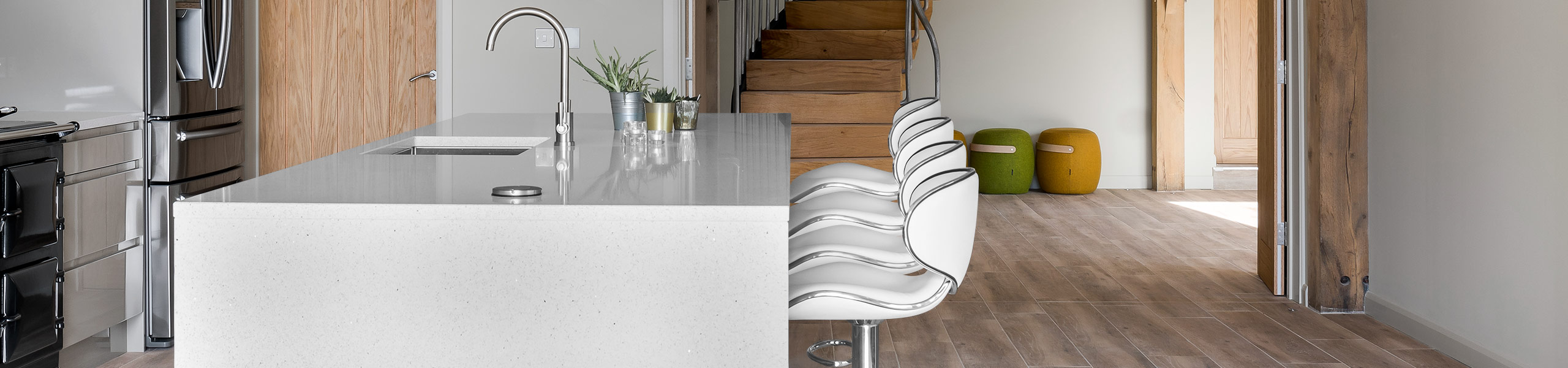 Duo Bar Stool White Video Banner