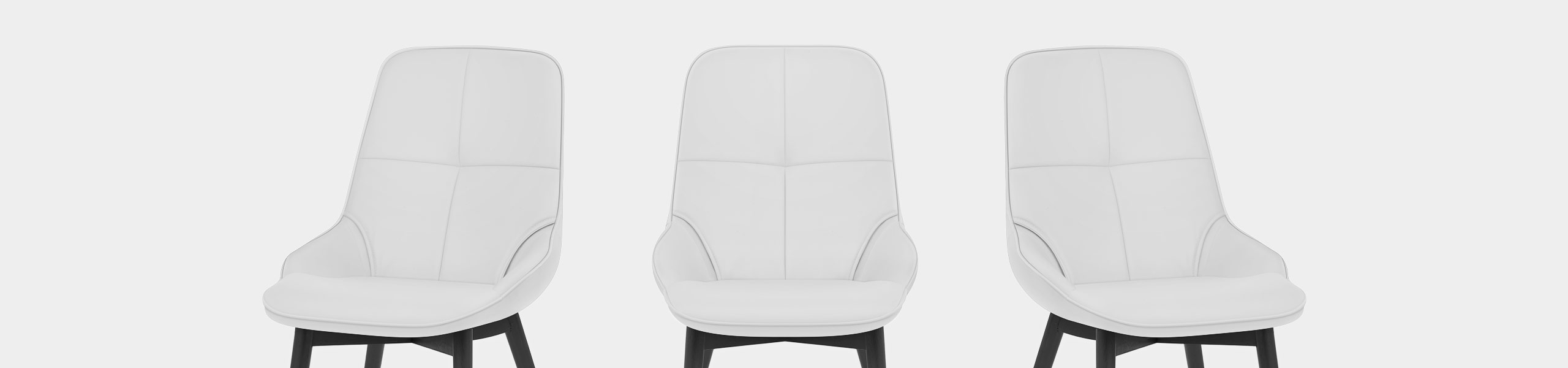 Dynasty Dining Chair White Leather Video Banner