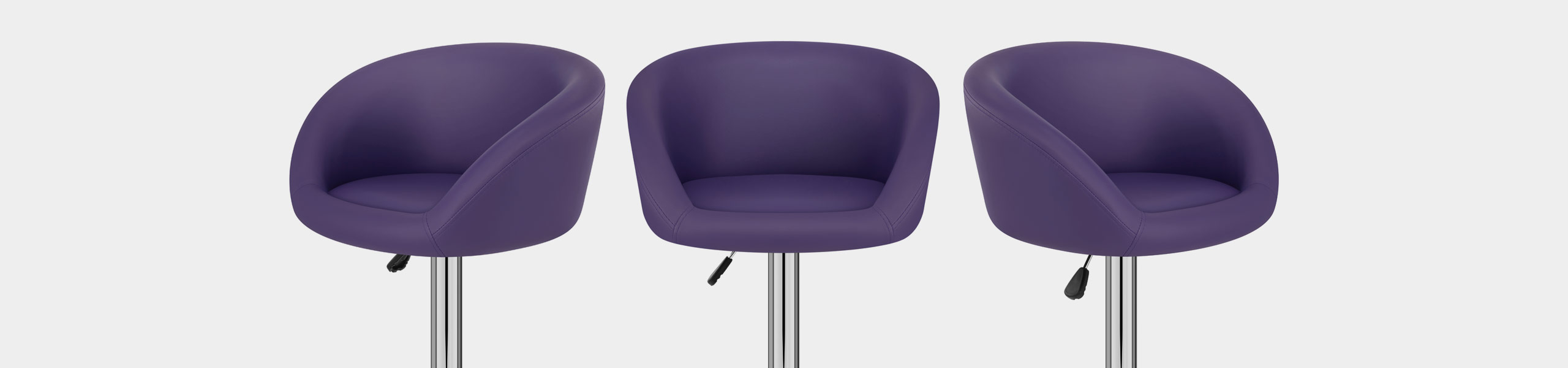 Purple Faux Leather Eclipse Bar Stool Video Banner