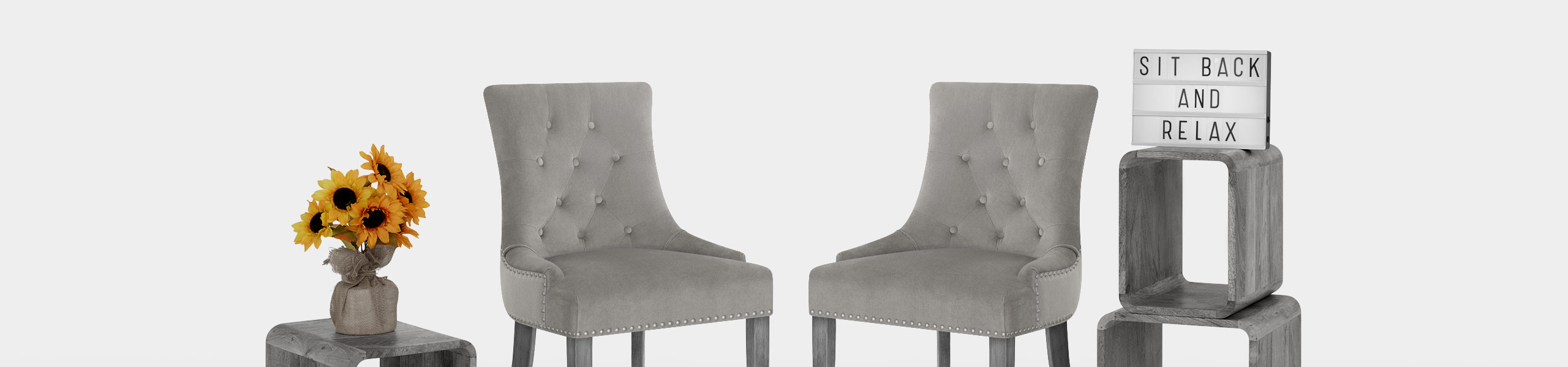 Etienne Dining Chair Grey Velvet Video Banner