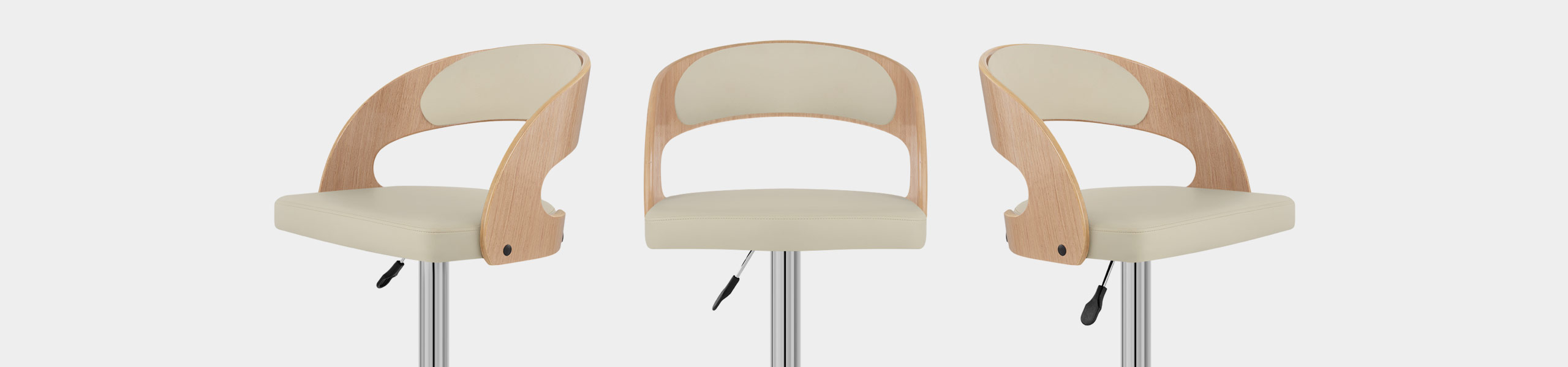 Eve Oak Bar Stool Cream Video Banner
