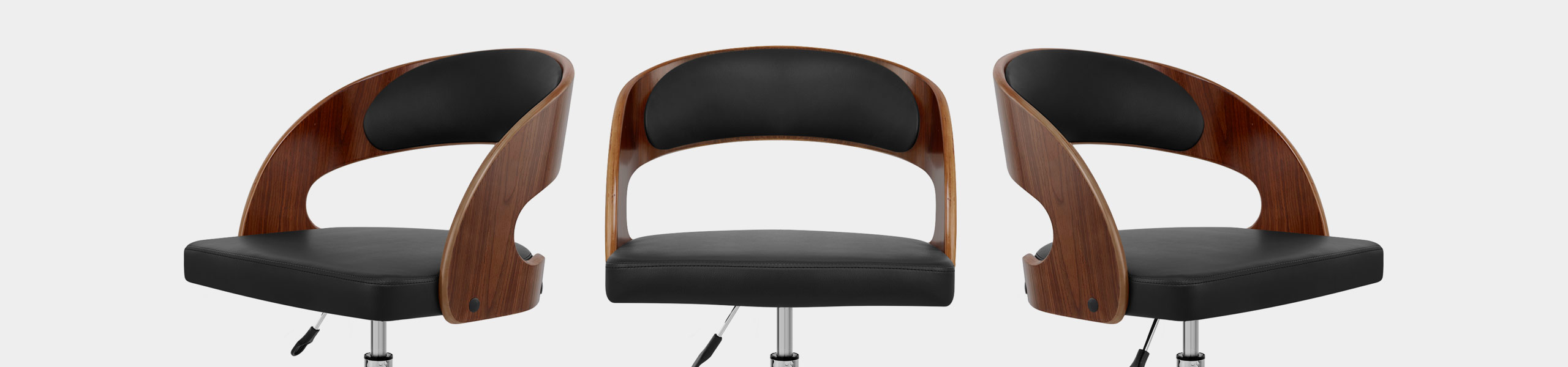 Evelyn Chair Walnut & Black Video Banner
