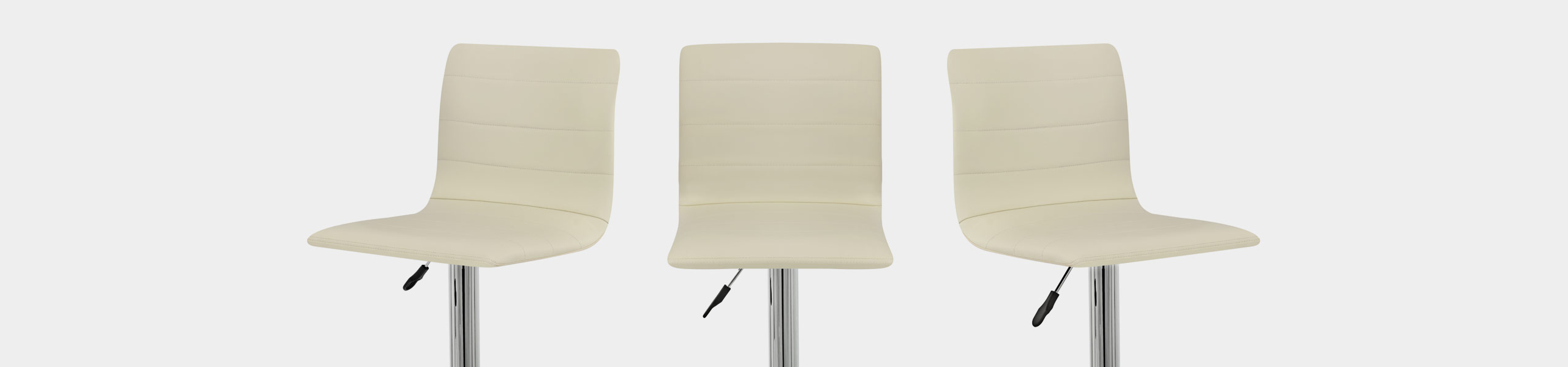 Fabio Real Leather Stool Cream Video Banner