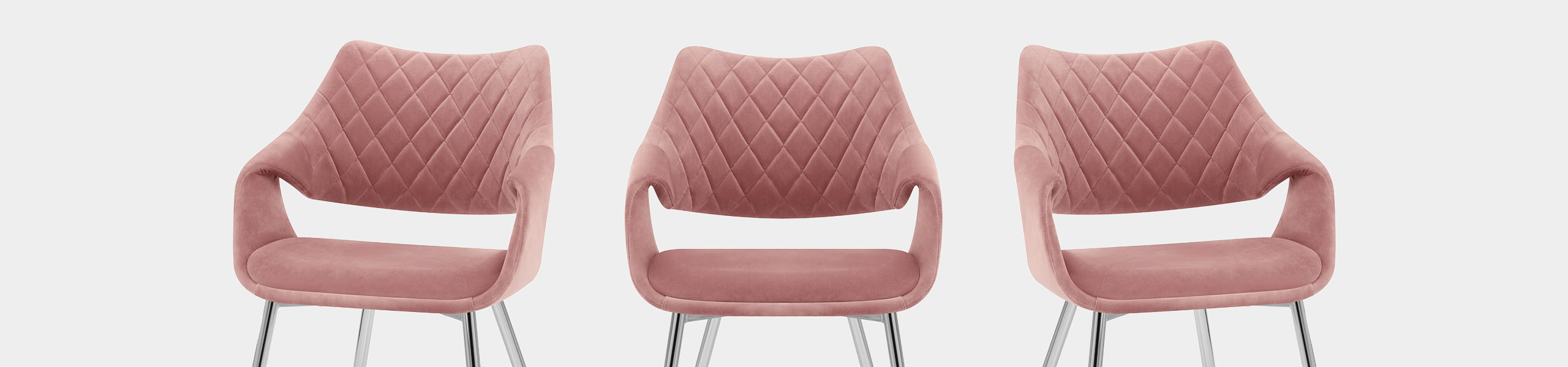 Fairfield Chrome Chair Pink Velvet Video Banner