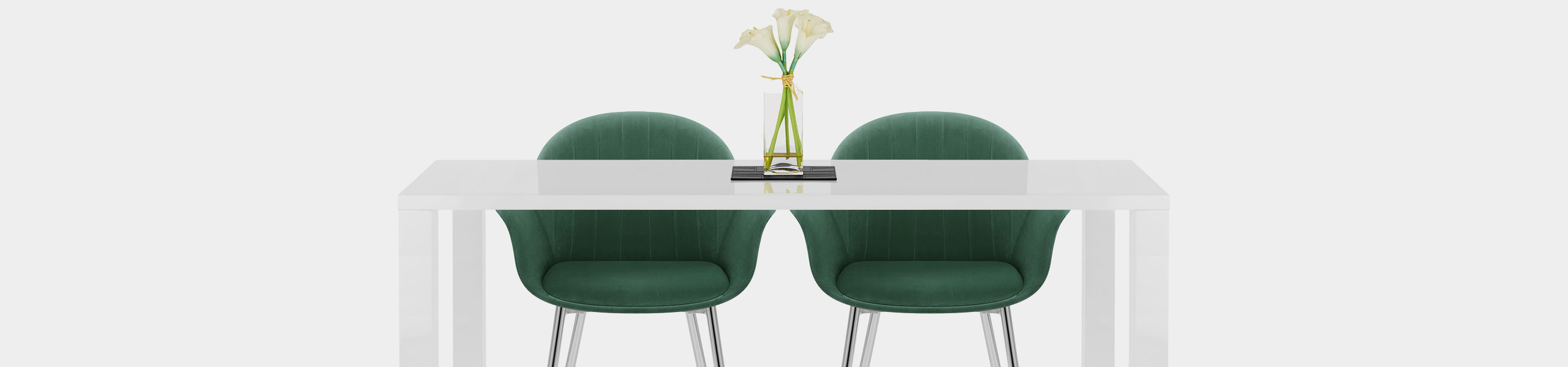Flare Dining Chair Green Velvet Video Banner