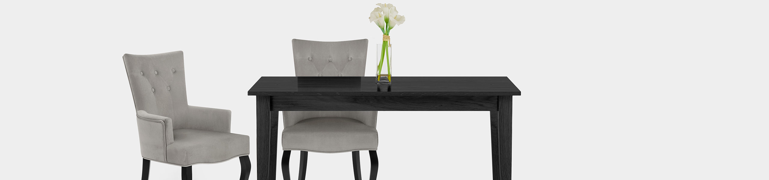 Fleur Chair Grey Velvet Video Banner
