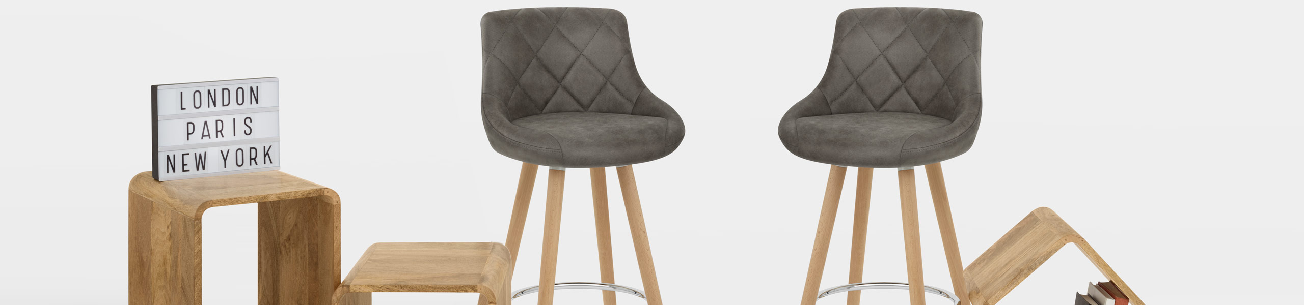 Fuse Wooden Stool Charcoal Video Banner