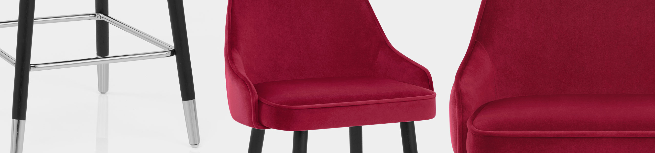 Glam Bar Stool Red Velvet Video Banner