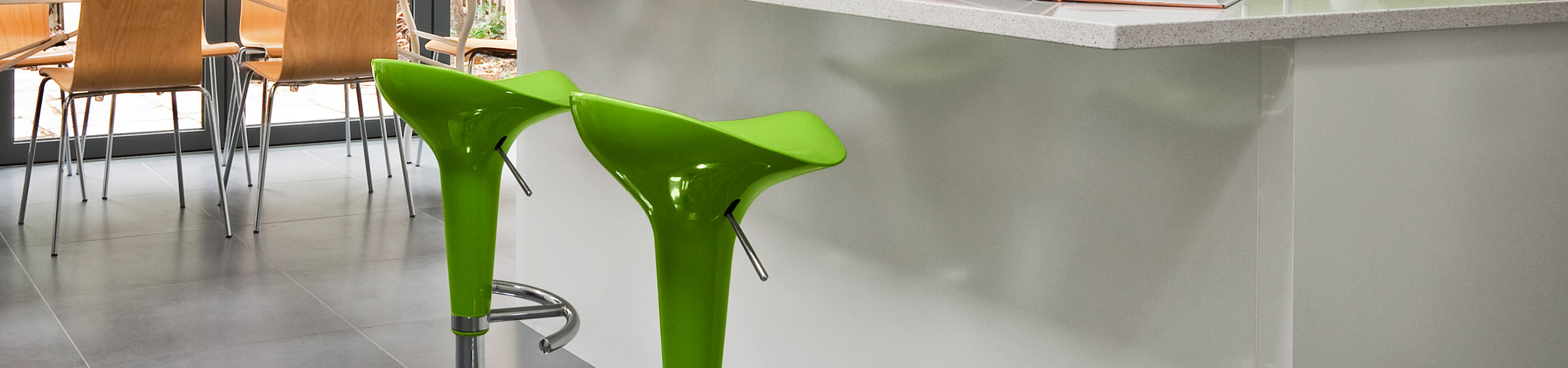 Gloss Coco Bar Stool Green Video Banner
