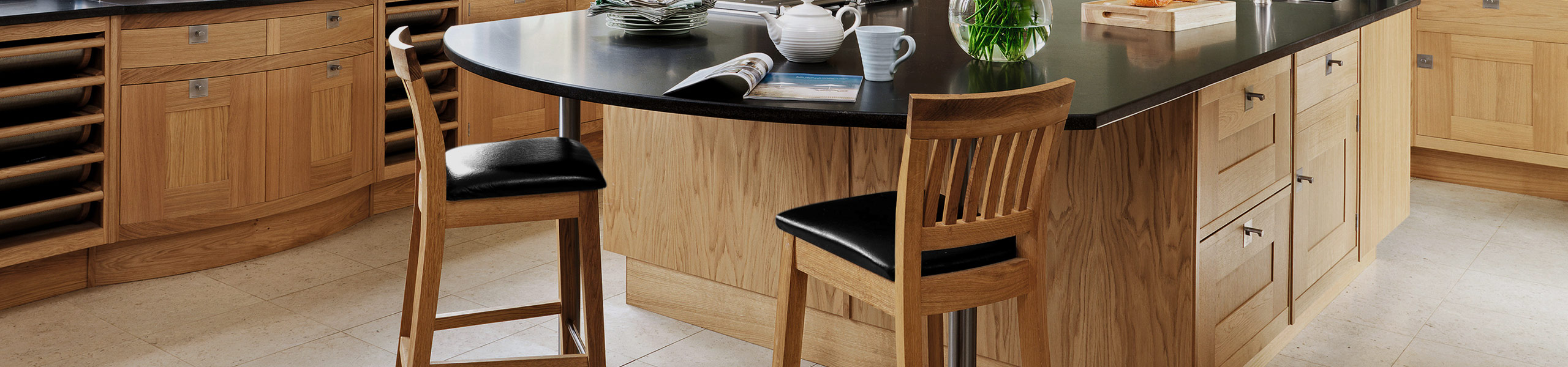 Grasmere Oak Bar Stool Black Video Banner