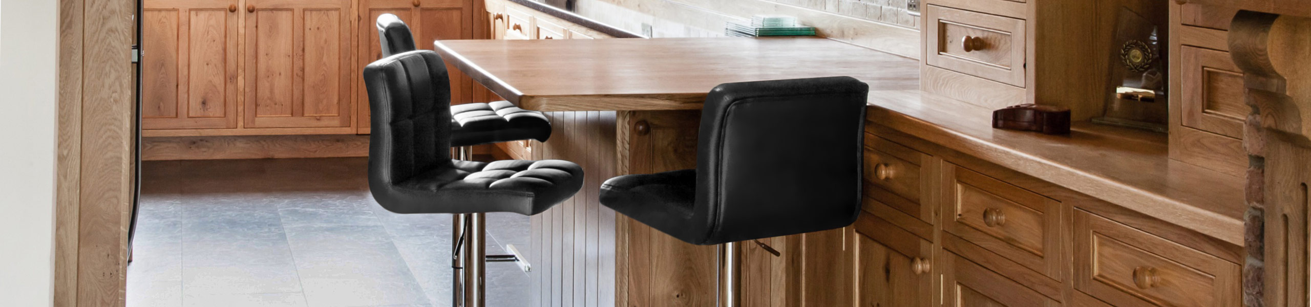 Grid Bar Stool Black Video Banner