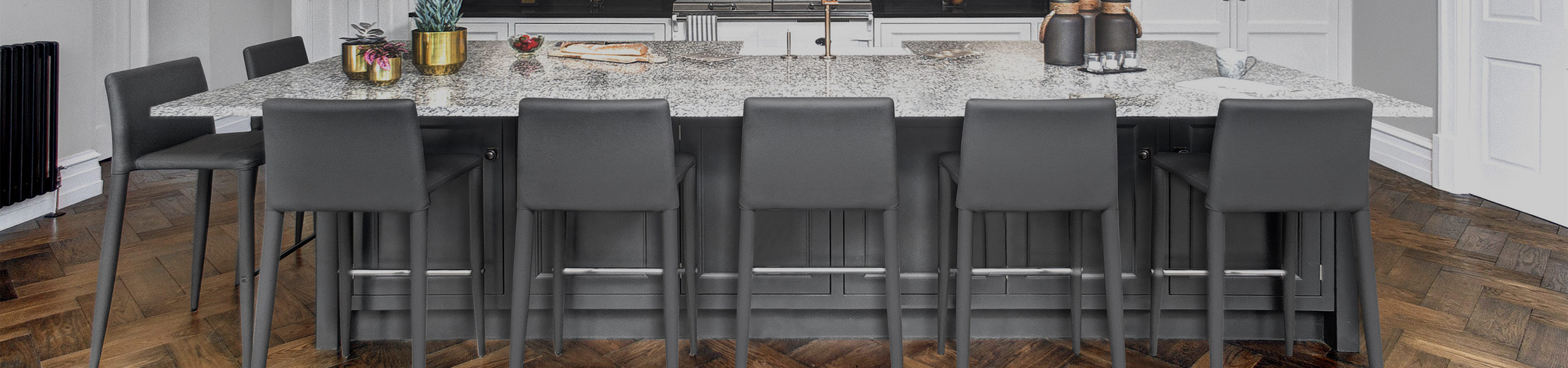 Healey Kitchen Stool Dark Grey Video Banner