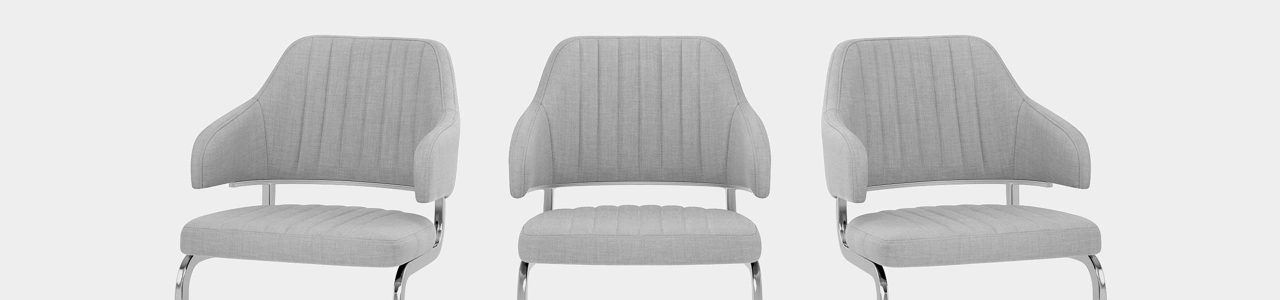 Horizon Chair Grey Fabric Video Banner