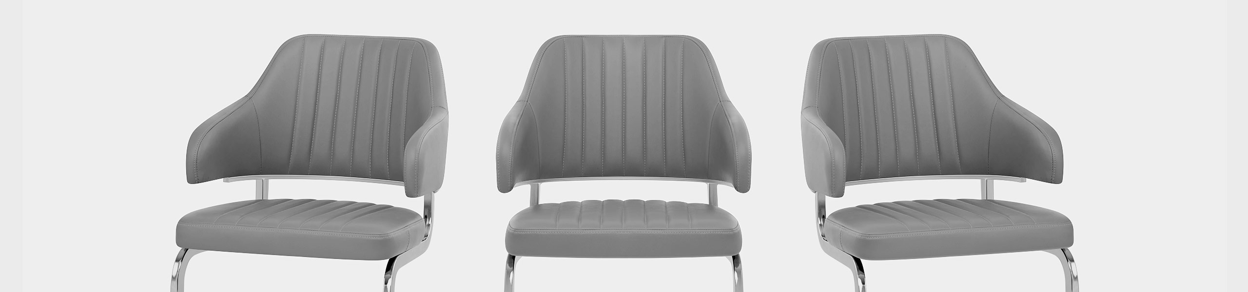 Horizon Chair Grey Leather Video Banner