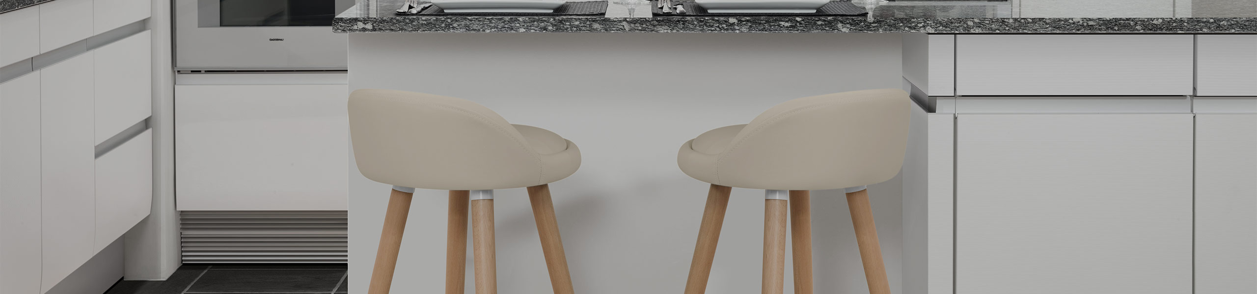Jive Wooden Stool Cream Video Banner