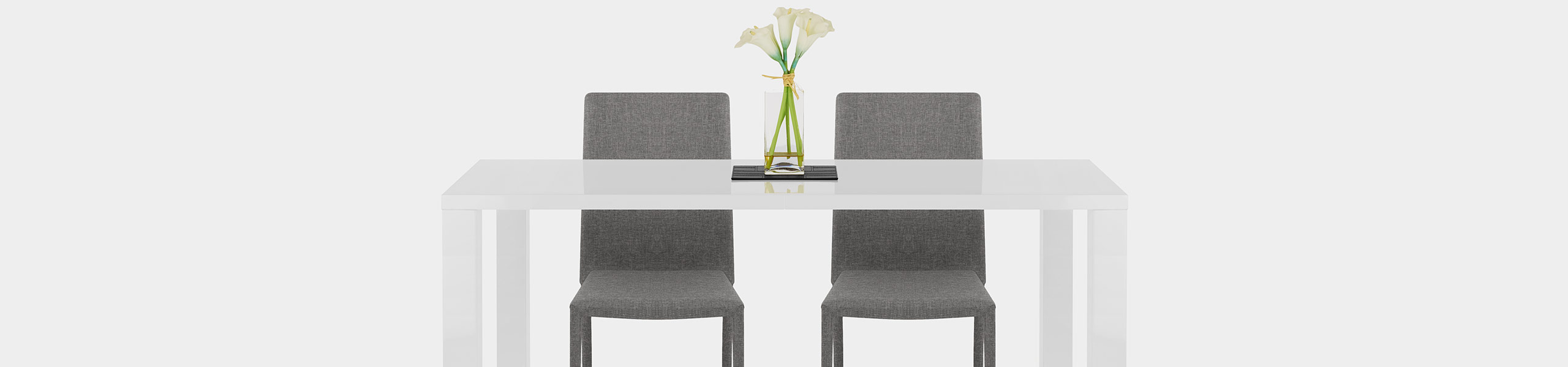 Joshua Dining Chair Light Grey Fabric Video Banner