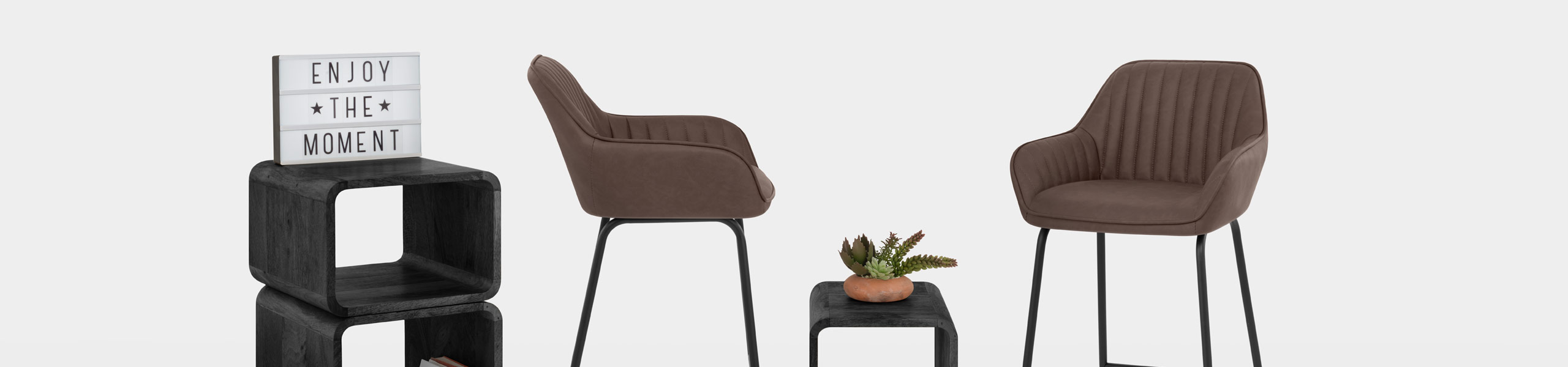 Kanto Bar Stool Brown Video Banner