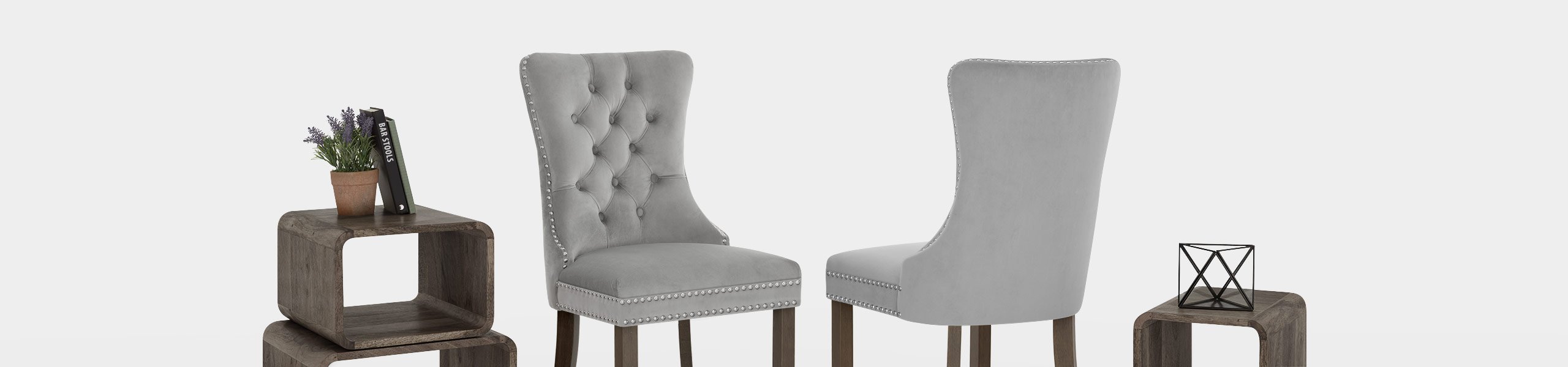 Kensington Dining Chair Grey Velvet Video Banner