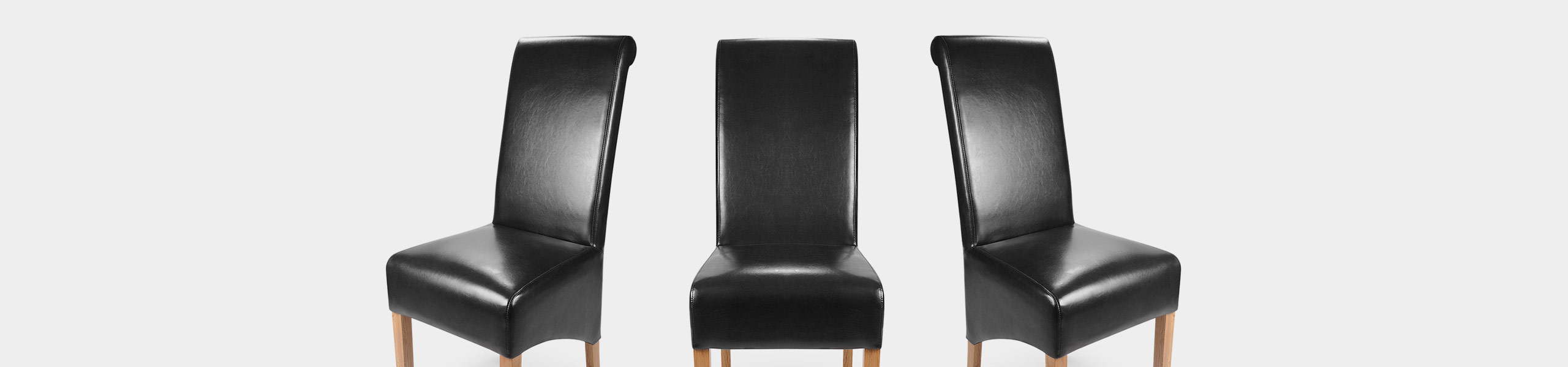 Krista Dining Chair Black Leather Video Banner