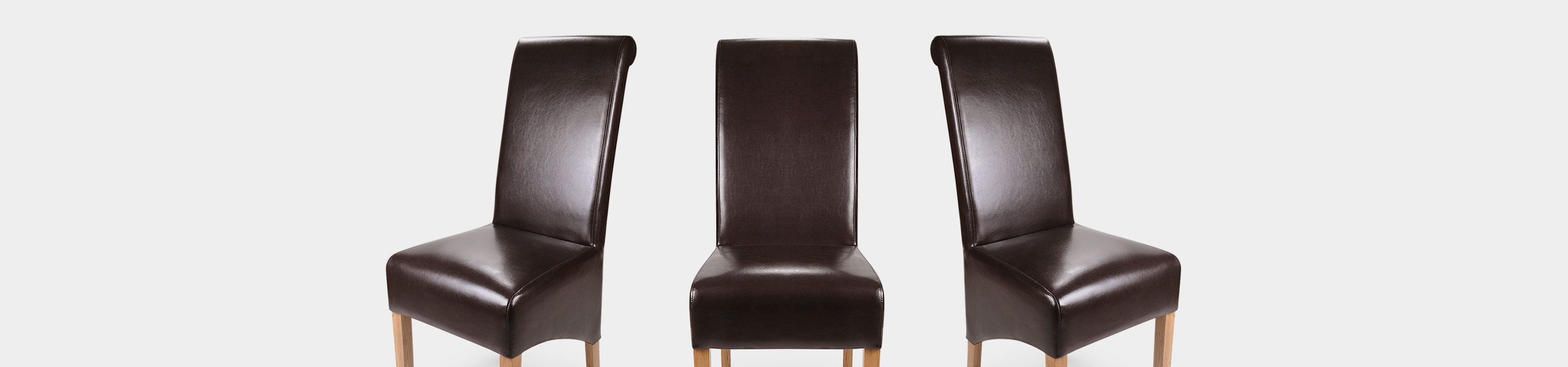 Krista Dining Chair Brown Leather Video Banner