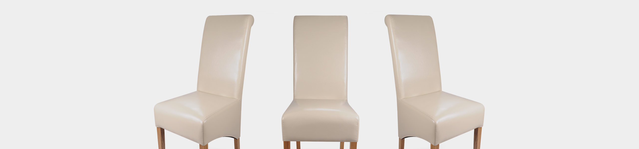 Krista Dining Chair Cream Leather Video Banner
