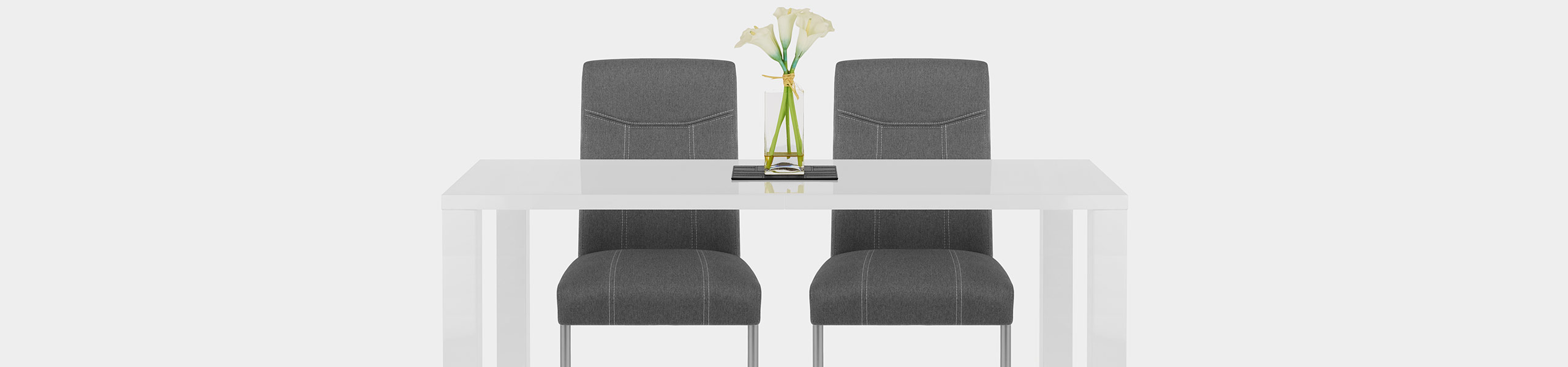 Lancaster Dining Chair Grey Fabric Video Banner