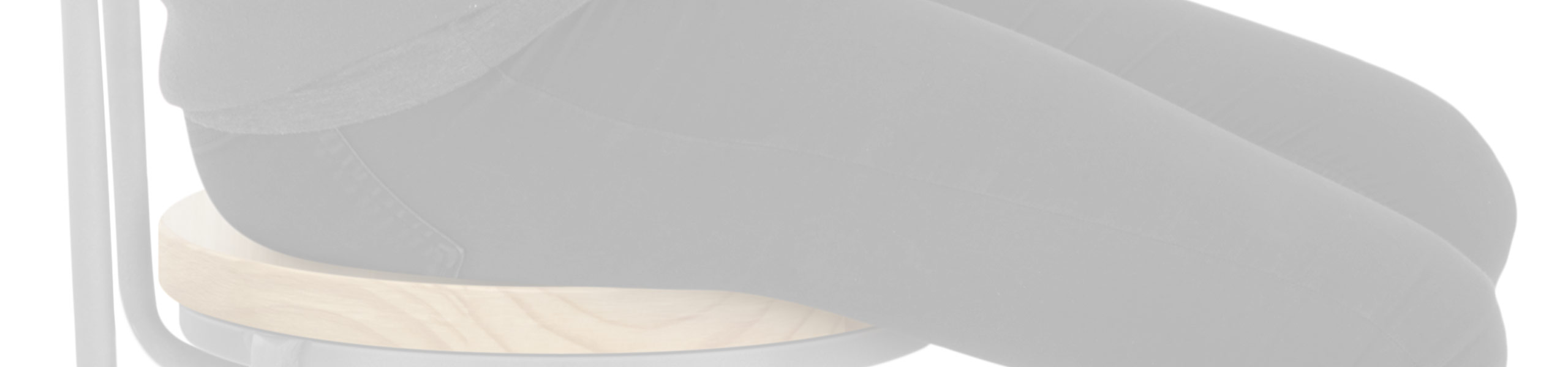 Lathe Wooden Stool Grey Review Banner