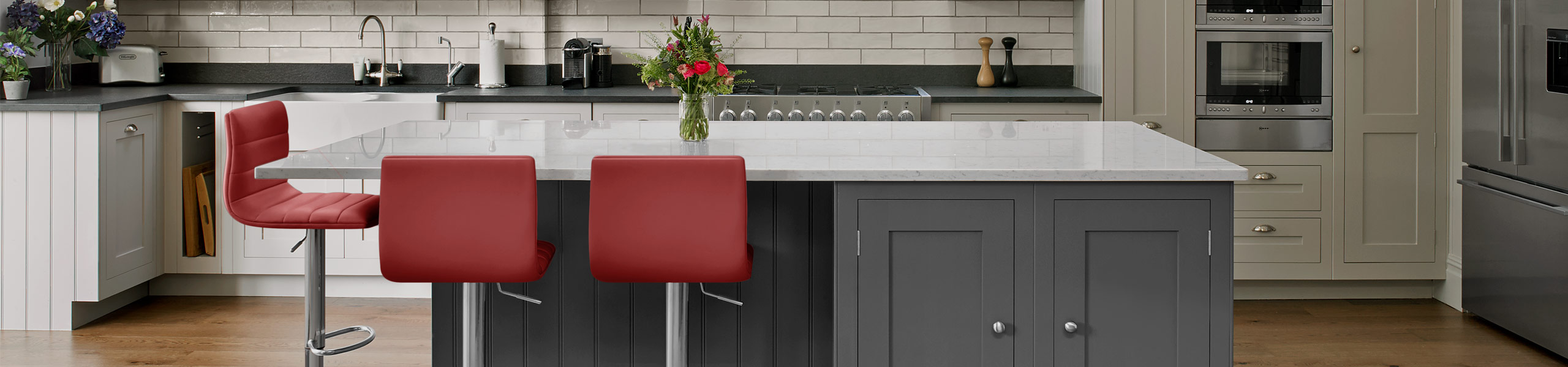 Linear Bar Stool Red Video Banner