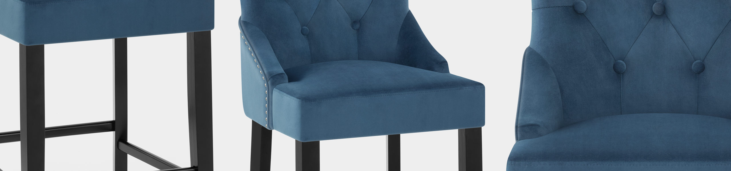 Loxley Stool Blue Velvet Video Banner