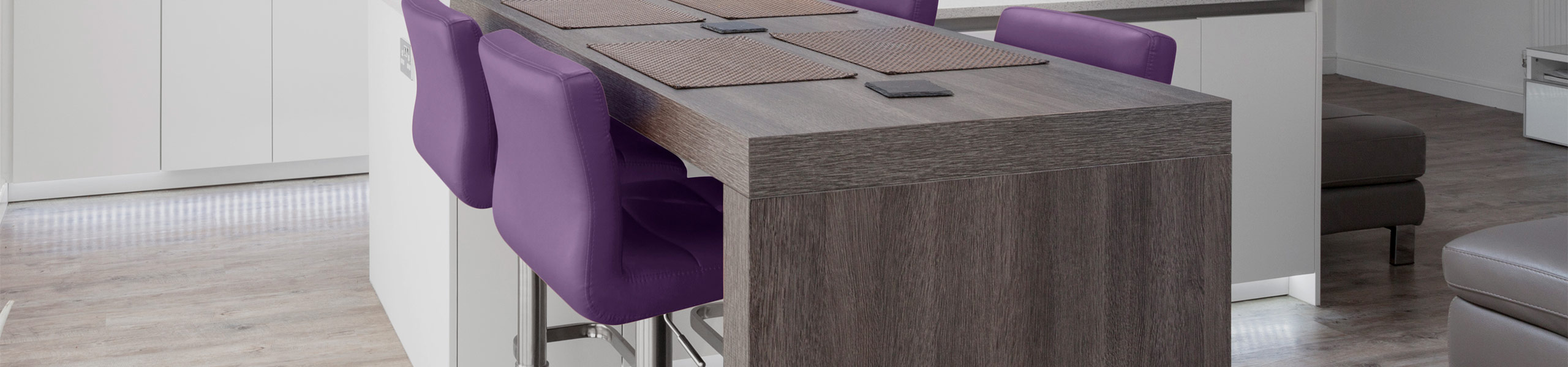 Lush Brushed Steel Bar Stool Purple Video Banner