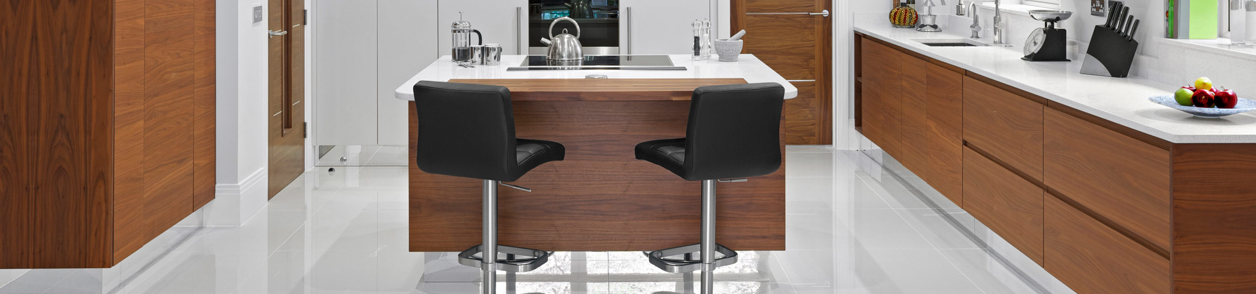 Lush Brushed Steel Bar Stool Black Video Banner
