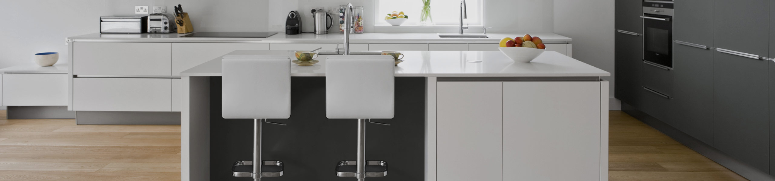 Lush Chrome Stool White Video Banner