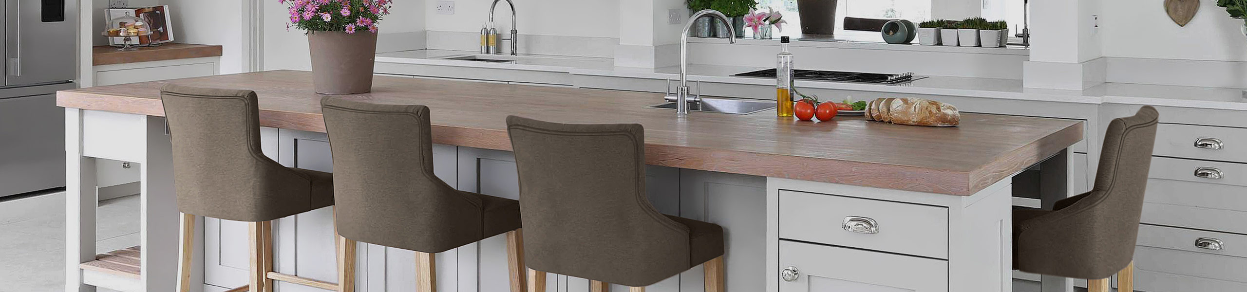 Magna Oak & Brown Fabric Bar Stool Video Banner