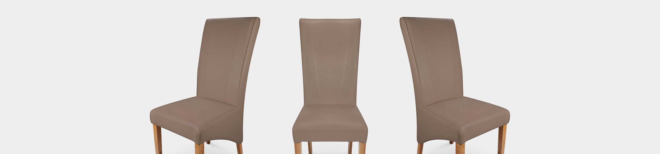 Marseille Madras Leather Dining Chair Taupe Video Banner
