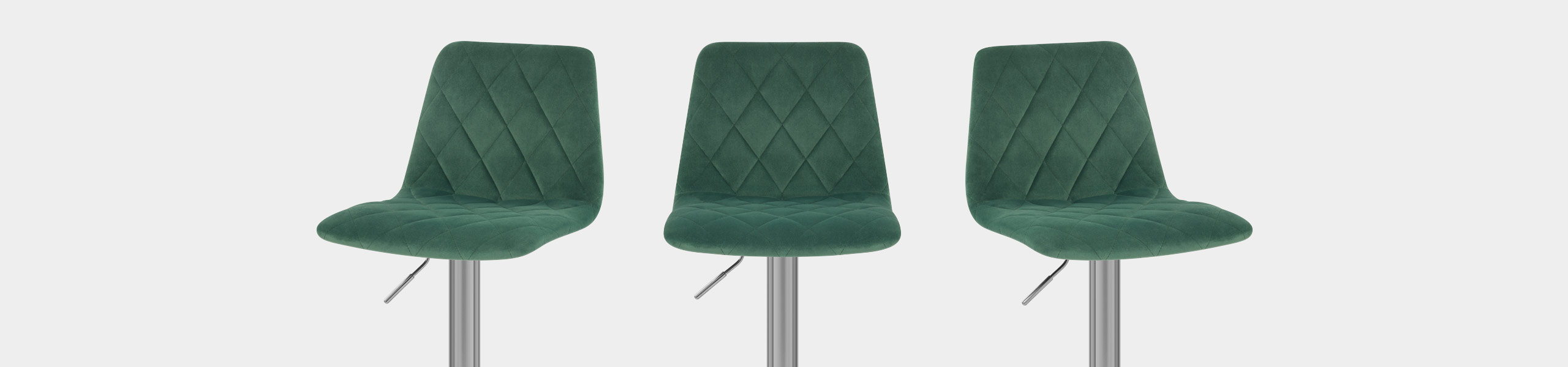 Melody Brushed Stool Green Velvet Video Banner