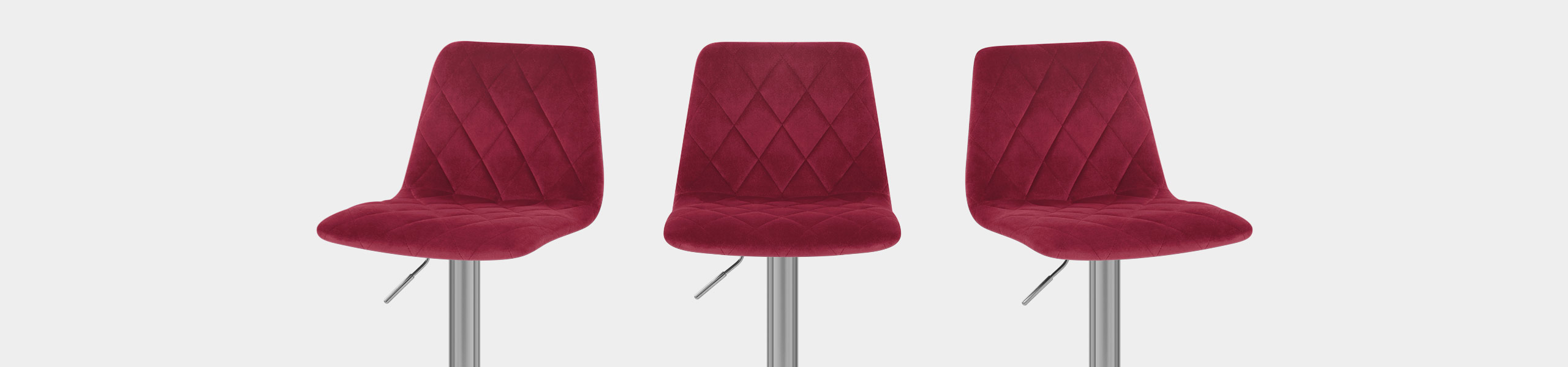 Melody Brushed Stool Red Velvet Video Banner