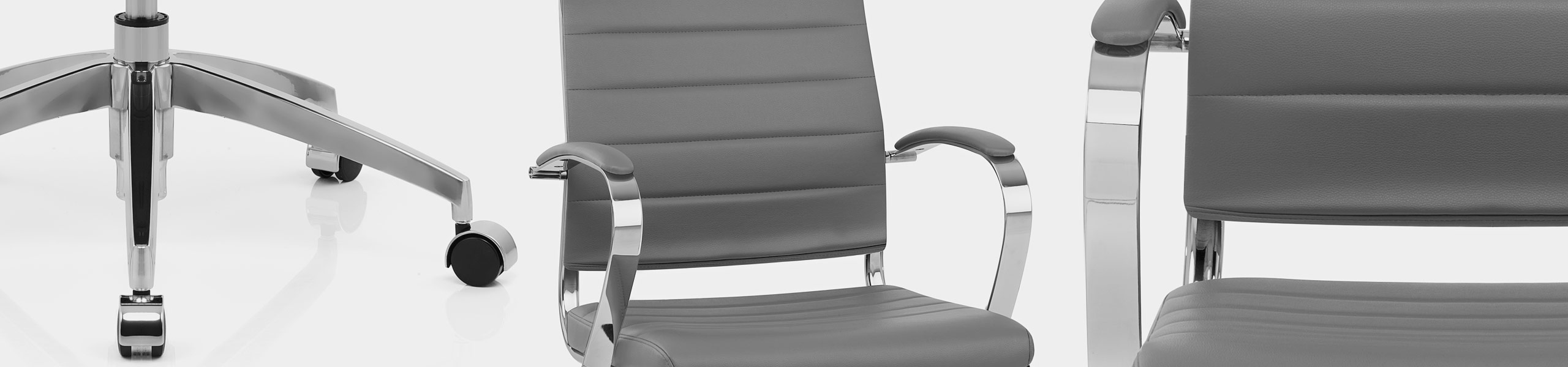 Metro Office Chair Grey Video Banner