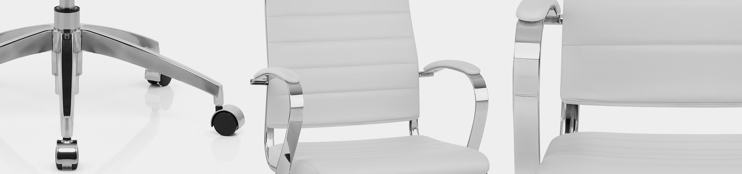 Metro Office Chair White Video Banner