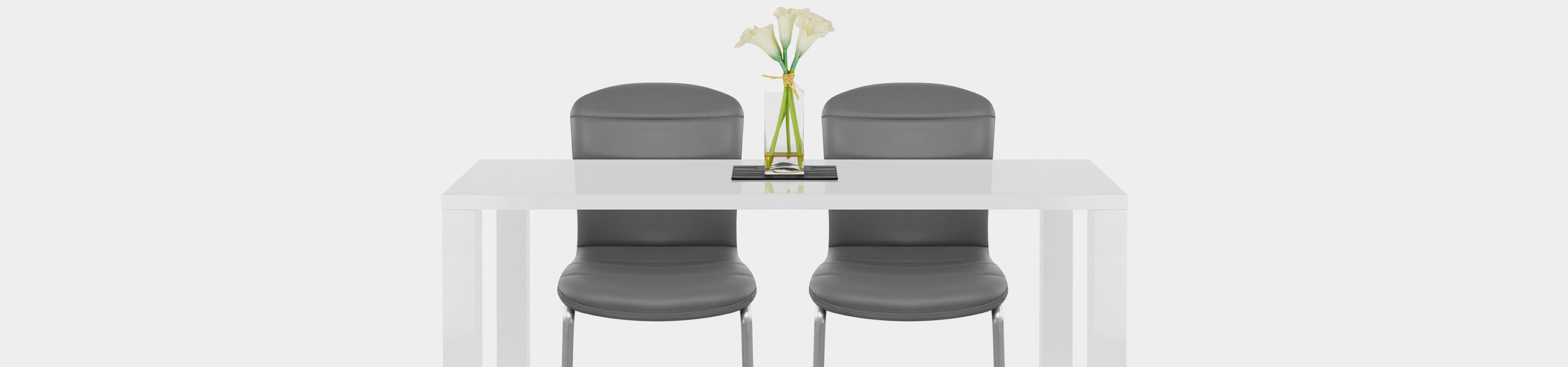 Mica Brushed Dining Chair Grey Video Banner