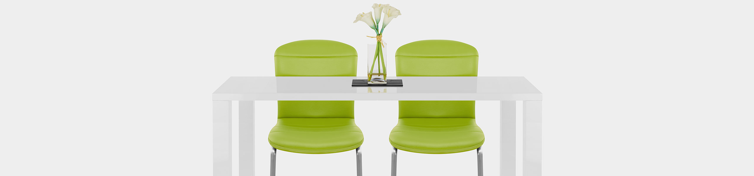 Mica Brushed Dining Chair Green Video Banner